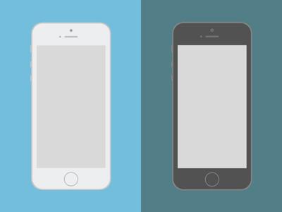 Iphone 5s iphone 5s mockup flat apple ai ps
