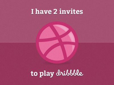 2 Dribbble Invite invite dribbble player photoshop pink noise ball