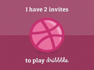 2 Dribbble Invite invite dribbble player photoshop pink noise ball