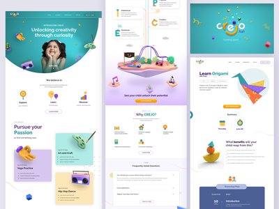 Crejo - Learning visual language ux  ui productdesign identitydesign creative non academic experiementation learning curiosity potential discovering explore elearning