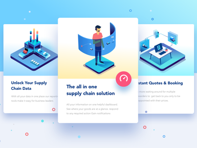 Real time tracking and support all in one freight illustration shipping management data analysis clarity customer support business decision supply chain