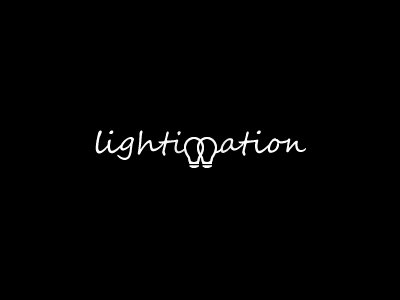 Logo Design - Lightimation project brand lightimation lightbulb logo app