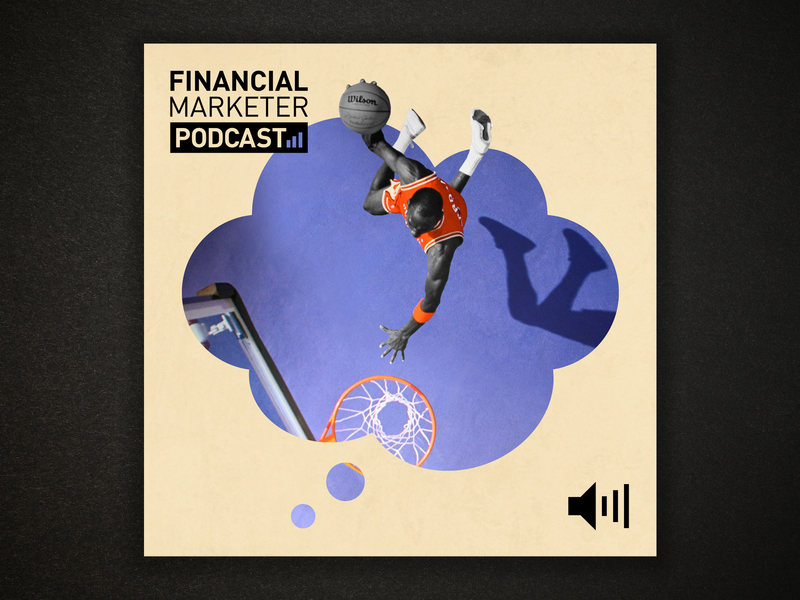 LAUNCHING THE FINANCIAL MARKETER PODCAST podcast art podcast web design news blog design blog article illustration illustration article