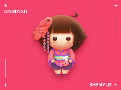 onmyoji  Shenyue girl qingming onmyoji lovely illustration game
