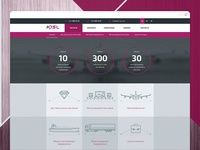 Web site for a delivery company