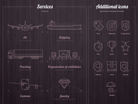Svg icons for web site of delivery company DSL