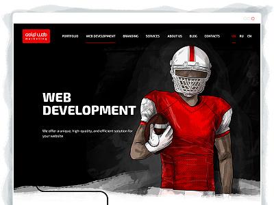 Service page design ux ui layout development web