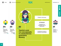Website for training company RIVER OF KNOWLEDGE