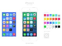 Ios7 elements and colour palette