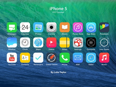 Ios7 Icon Set Redesign Concepts ios7 apple iphone ios icon redesign application app