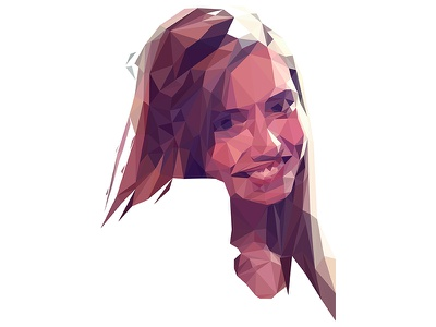 Low Poly Portrait low poly portrait illustration portraiture drawing vector polygon illustrator triangles