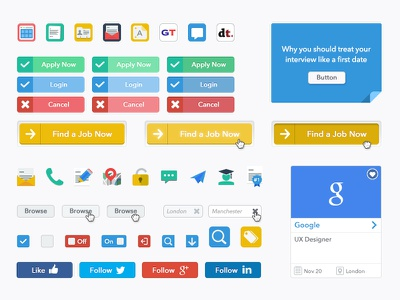 UI and Iconography WIP icon ui flat buttons web branding identity style corporate