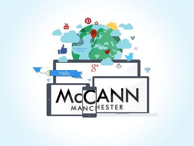 Joining McCann Manchester new job advertising agency social media digital flat globe
