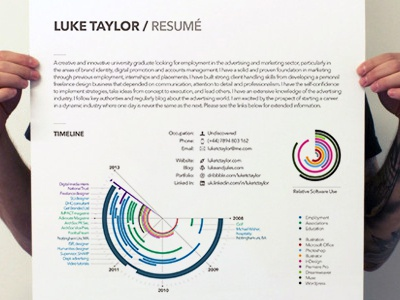 Cv infographic poster image