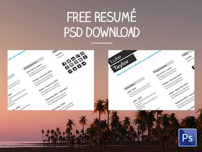 Free Resumé Template Download