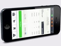 Mobile invoice side view
