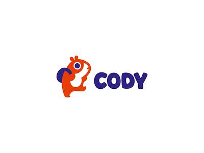 Сody cavy mascot character logotype vector illustration funy branding design cute logo
