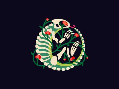 Lizart digital art lizard vector design skull illustration