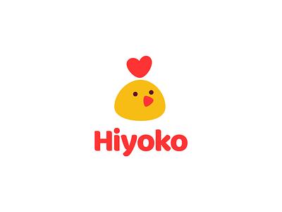 Hiyoko branding funy cute eat logo love chick chicken