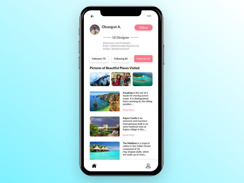 Profile Design adventure design android adidas cart list checkout online