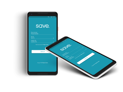 SAVE sign up screen rwanda app android digital sign up get save save