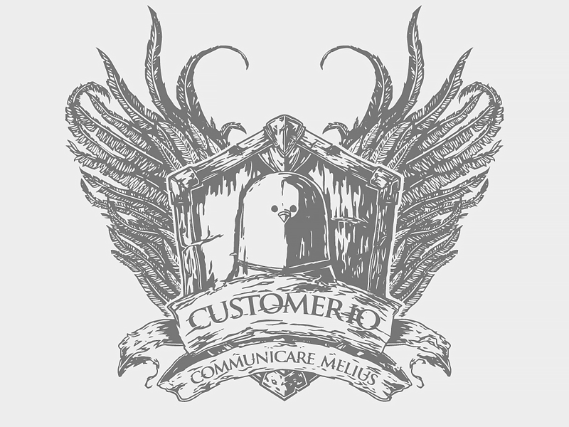 House Customer.io Crest got vector cool ink crest ami customer.io house team