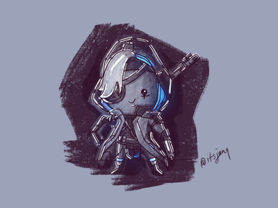Ana doodle sketch game overwatch ana
