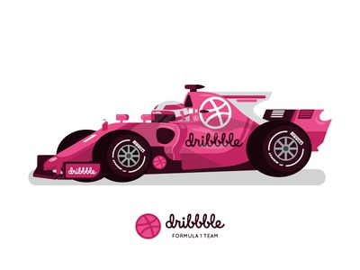 Dribbble Formula 1 Team flat design flat race car car racing formula 1 f1 dribbble