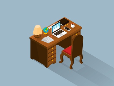 Vintage Isometric Office