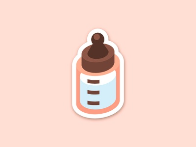 Breastfeed Your Baby Sticker lactation milk isometric sticker feeding bottle baby breastfeeding
