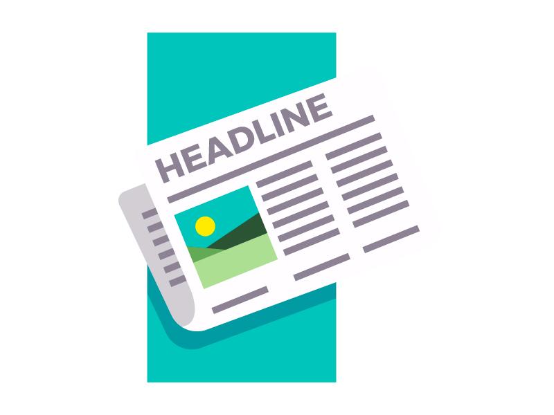 Newspaper illustration flat flat design vector viral hotnews headline newspaper news