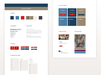 Style Guide web design pattern callout ui kit ui style guide