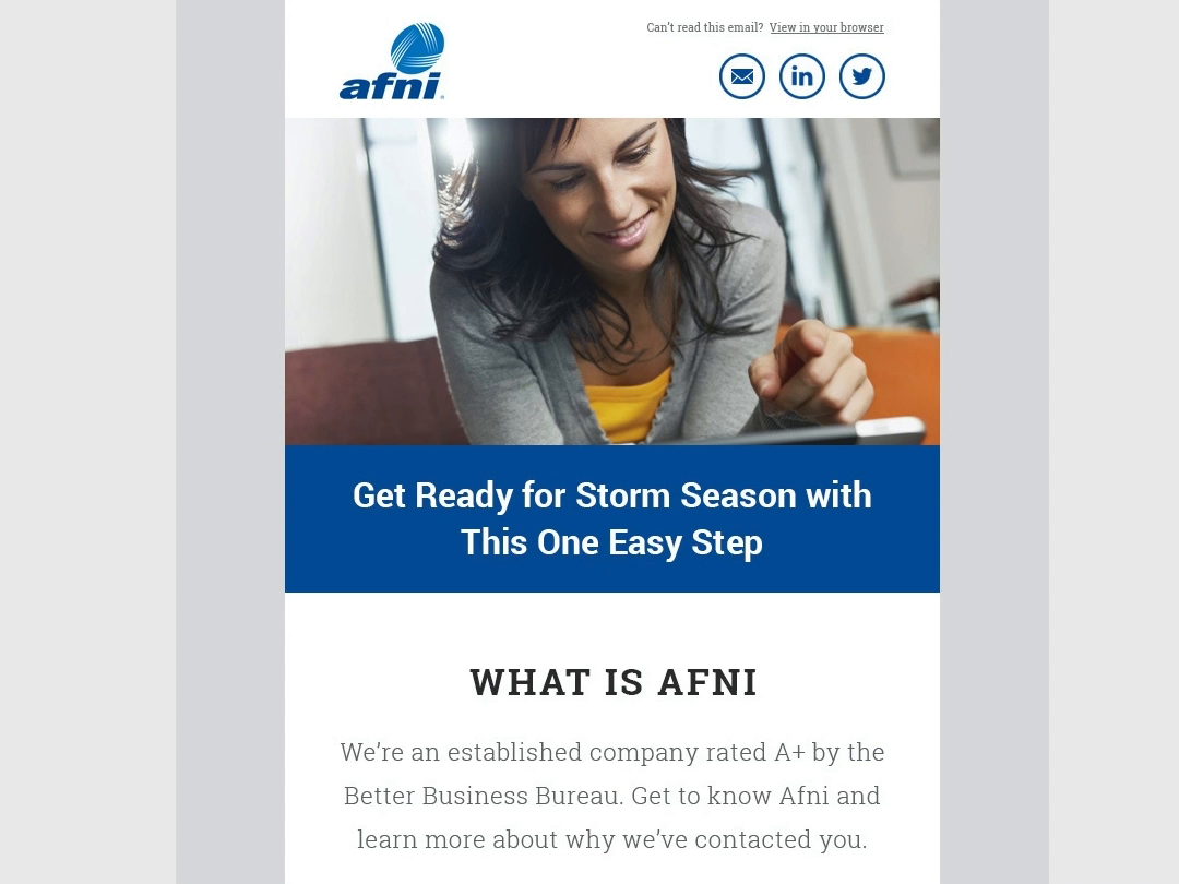 Afni email template