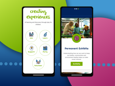 Kidzeum Mobile Screens