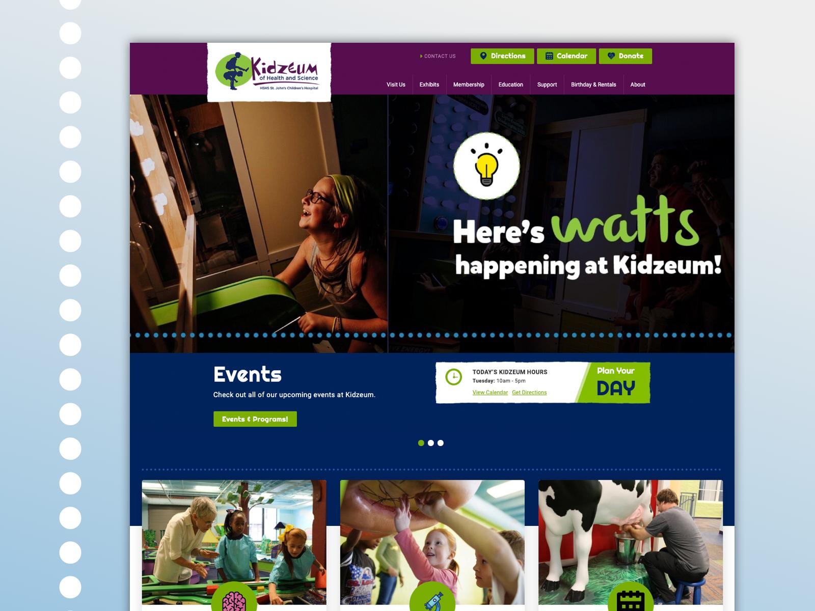 Kidzeum home page
