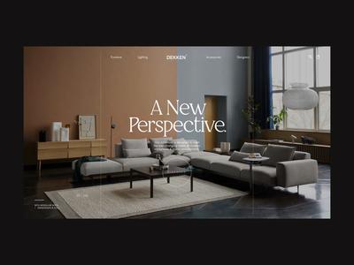 Dekken product layout shop interface animation furniture art direction typography design minimal website clean concept web ux ui