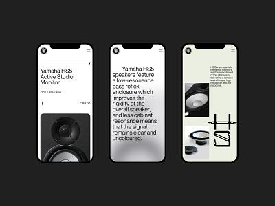 Yamaha HS5 — Explorations 001 product interface art direction grid mobile ui yamaha mobile website layout typography design minimal clean concept web ux ui