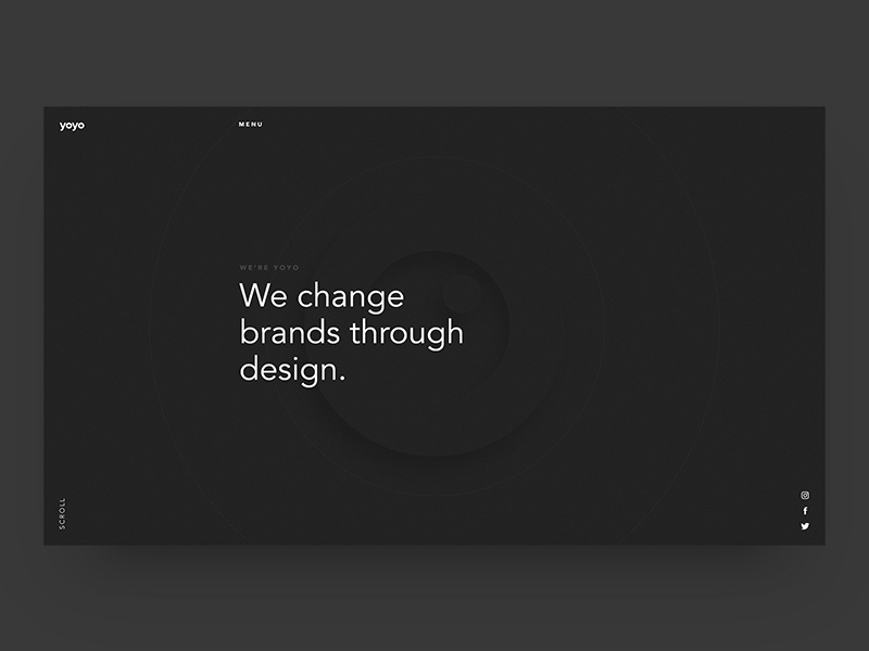 Yoyo - Homepage Concept website clean page web minimal landing debut concept grid ux ui