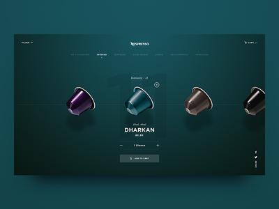 Nespresso - Coffee Selector website web ux ui shop select nespresso minimal concept coffee clean