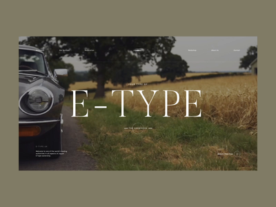 E-Type Intro Animation video intro website web ux ui typogaphy loader layout landing page jaguar interface e-type design concept clean cars