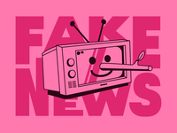 📺 Fake News corona elections coronavirus linear face design minimal illustration vector news fake television tv