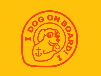 🐕 Dog on board - sticker tongue golden retriever labrador bone sunglasses sticker logo travel dog