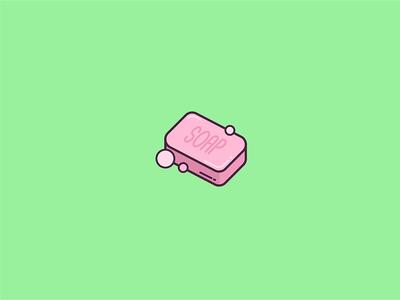 Soap Icon design flat soap illustration icon