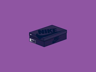 Nike Air Command Force Box Icon minimal flat air purple vector illustration icon box nike