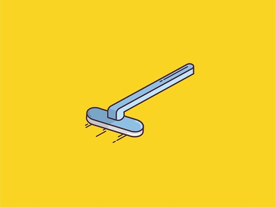 Razor or wiper Icon minimal brutal draw drawing illustration icon razor