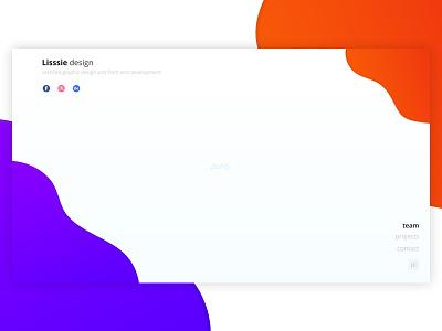 Pure personal website clean free layout webdesign www design portfolio gradient pure website