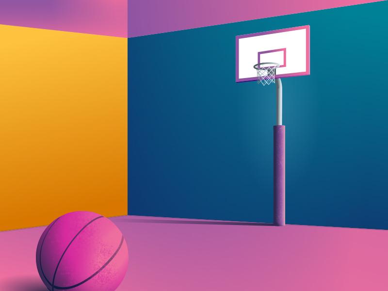 Dribbble dunk contest 📣 gradient vector illustration dribbble dunk contest invitation invite