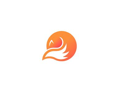 Liskoduje - branding 🦊 circle gradient fox logo minimal vector