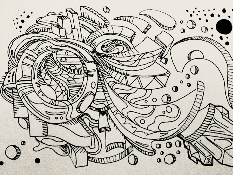Untitled Abstract Work 23 By Bert Horruitiner On Dribbble