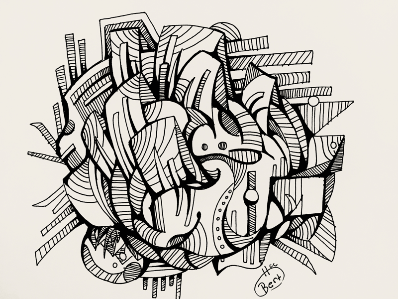 Automatic Drawing Experiment 15 By Bert Horruitiner On Dribbble